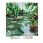 L'etang De Claude Monet, Giverny, France Shower Curtain