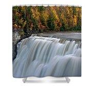 Letchworth Falls Sp Middle Falls Shower Curtain