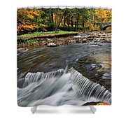 Letchworth Falls Sp Wolfe Creek Shower Curtain