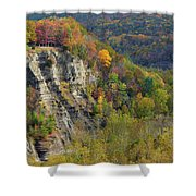 Letchworth Falls State Park Gorge Shower Curtain