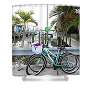 Let's Bike There Shower Curtain
