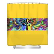 Let's Color This World By Kaye Menner Shower Curtain