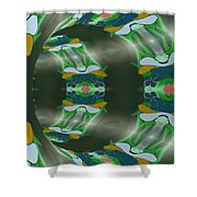 Let's Get Around It Abstract  Shower Curtain