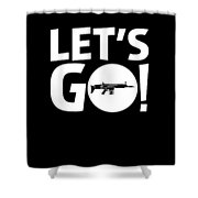 Lets Go Battle Royale Gaming Legendary Scar Rifle Birthday Gamer Gift T Shirt Shower Curtain