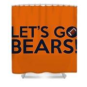 Let's Go Bears Shower Curtain