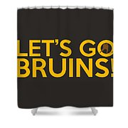 Let's Go Bruins Shower Curtain