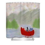 Let's Go Canoeing  Shower Curtain