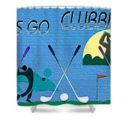 Let's Go Clubbing Shower Curtain