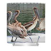 Lets Go Fishing Shower Curtain
