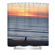 Let's Go For A Walk Shower Curtain