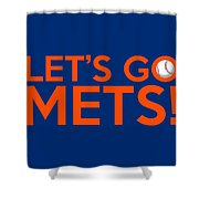 Let's Go Mets Shower Curtain