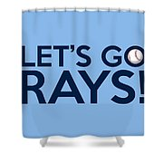 Let's Go Rays Shower Curtain