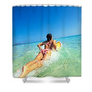 Lets Go Surfing Shower Curtain
