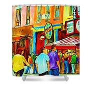 Lets Meet For Lunch Shower Curtain