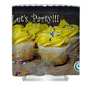 Let's Party Cupcakes Shower Curtain