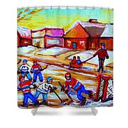 Lets Play Hockey Shower Curtain