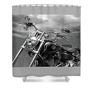 Let's Ride - Harley Davidson Motorcycle Shower Curtain