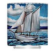 Let's Set Sail Shower Curtain