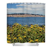 Let's Stop For Lunch Here Shower Curtain