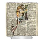 Letter A Monogram Shower Curtain