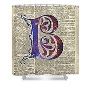 Letter B Monogram Shower Curtain