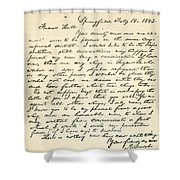 Letter From Abraham Lincoln To Alden Shower Curtain