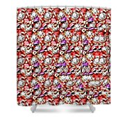 Letter J Stereogram Shower Curtain