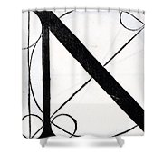 Letter N Shower Curtain