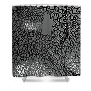 Letters Body Shower Curtain