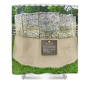 Letters Of Sacrifice Memorial Shower Curtain
