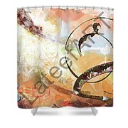 Letters Track Shower Curtain