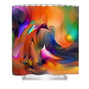 Letting Go Shower Curtain by David Lane