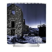 Levant Mine In Blue Shower Curtain