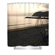 Levanto Beach Shower Curtain