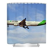 Level Airbus A330-202 Shower Curtain