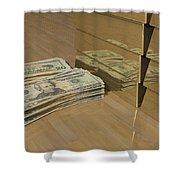 Level One Money Manifestation  Shower Curtain