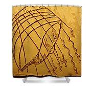 Levels - Tile Shower Curtain