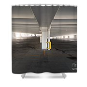 Levels Of A Parking Structure Shower Curtain