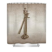 Lever Jack Shower Curtain