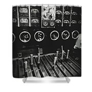 Levers And Gauges Shower Curtain