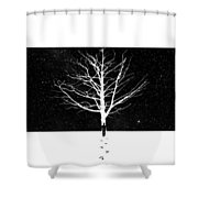 Leverything Is Temperory Shower Curtain