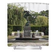 Levi L. Barbour Memorial Fountain Shower Curtain