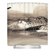 Leviathan's Lament Shower Curtain