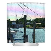 Lewes Canal Late Morning Shower Curtain