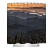 Lewis And Clark Route 2 Shower Curtain