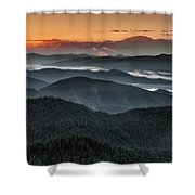 Lewis And Clark Route Shower Curtain