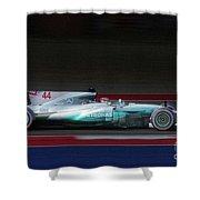 Lewis Hamilton Formula 1 Shower Curtain