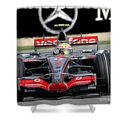Lewis Hamilton, Mclaren- Mercedes Mp4-22 Shower Curtain