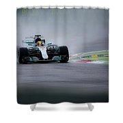Lewis Hamilton Monza 2017 Shower Curtain
