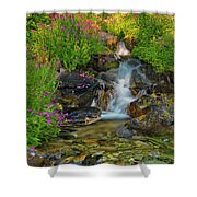 Lewis Monkey Flowers And Cascade Shower Curtain